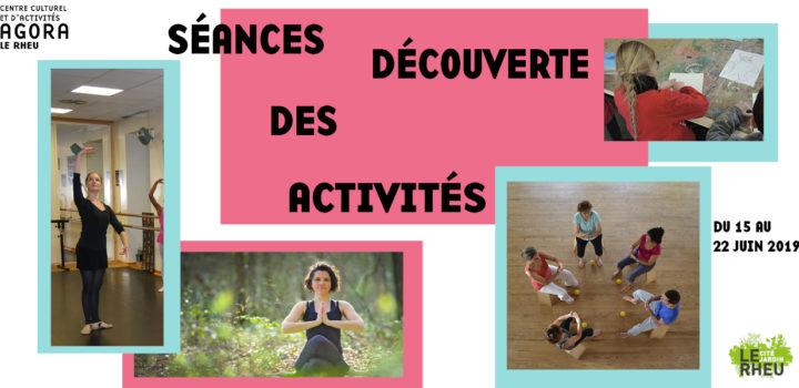 Séances découverte des activités • Gratuit