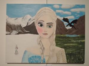 2ème Prix-Lilou AUDUREAU – « Daenerys des Neiges » - (LE RHEU)